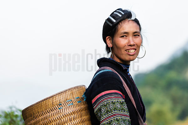 Portrait of a Woman from the Black Hmong