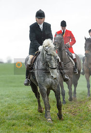 PC at Knossington Spinney - The Fitzwilliam Hunt visit the Cottesmore at Burrough House