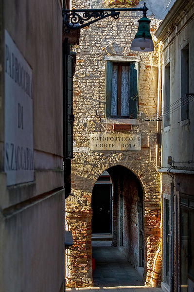 Sunlit Archway in Castella District, Venice