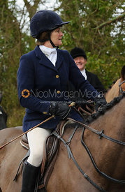 Janey Cator with her brass buttons- The Belvoir at Burton Pedwardine