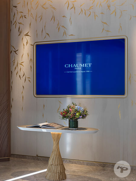 Photographe architecture boutique retail Paris - Boutique Chaumet Madrid. Photo ©Kristen Pelou