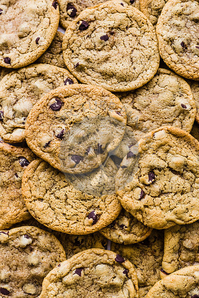 Flatlay of Chocolate Chip Cookies