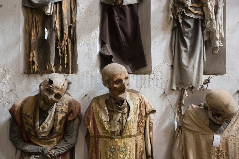 Mummies in the Capuchin Catacombs in Palermo, Sicily