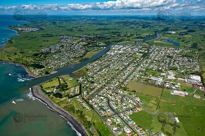 Looking East over Waitara