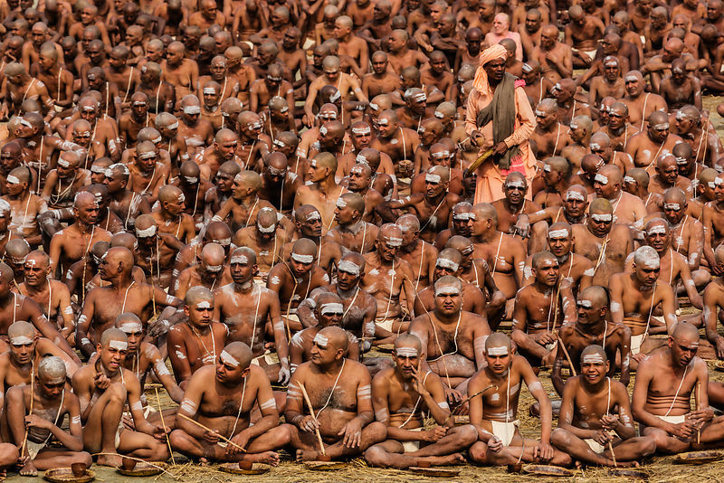 Sahhus at a Naga Sadhu Initiation