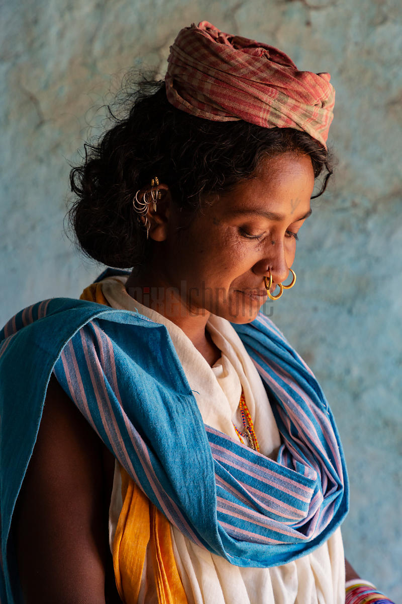 Portrait of a Woman from the Dongria Kondh Hill Tribe