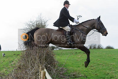 jumping a hedge at Ingarsby