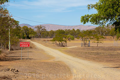 Road Sign on Dirt Track in Northern Queensland