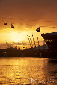 Cable car at The Crystal and O2 Arena.
