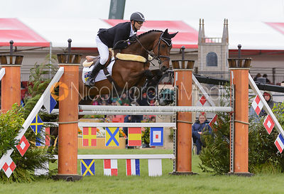 Bill Levett and SHANNONDALE TITAN - Show Jumping phase, Mitsubishi Motors Badminton Horse Trials 2014