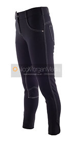 Stock image - Blue equestrian breeches and jodhpurs