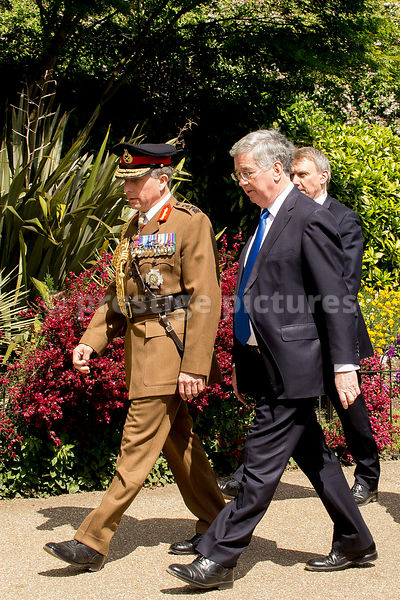 General Sir Nicholas Patrick Carter with Michael Fallon MP