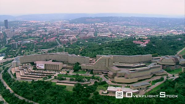 Aerial shot of The University of South Africa (UNISA). Pretoria Gauteng South Africa