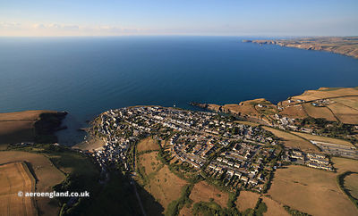 Port Isaac Cornwall  aerial photograph