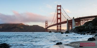 Sunrise at the Golden gate bridge, San Francisco, California, USA