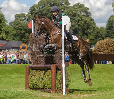 Alex Postolowsky and ISLANMORE GINGER - cross country phase,  Land Rover Burghley Horse Trials, 7th September 2013.