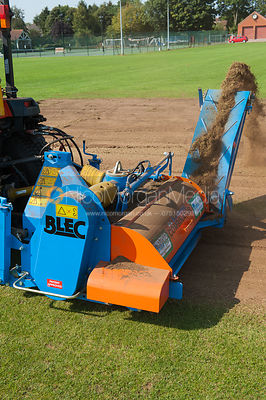 Machinery being used to level a cricket square prior to relaying