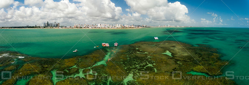 Picãozinho is a reef formation, located about 1500 meters from Tambaú beach on the coast of João Pessoa - Brazil