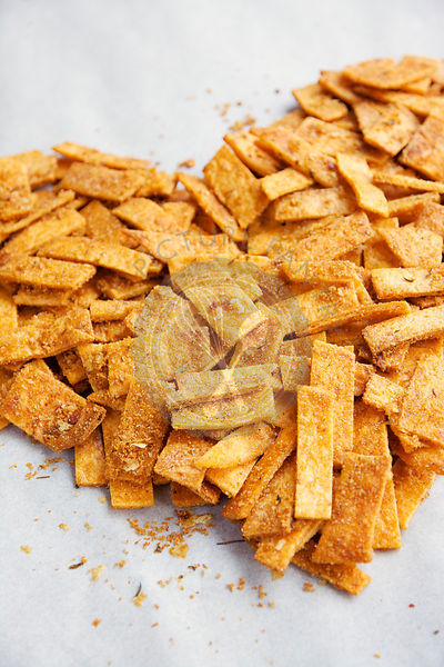 Spicy Homemade Baked Flour Tortilla Chips