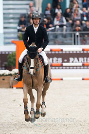 Paris, France, 17.3.2018, Sport, Reitsport, Saut Hermes - PRIX GL Events Bild zeigt Steve GUERDAT(SUI) riding Albfuehren's Happiness...17/03/18, Paris, France, Sport, Equestrian sport Saut Hermes - PRIX GL Events. Image shows Steve GUERDAT(SUI) riding Albfuehren's Happiness.