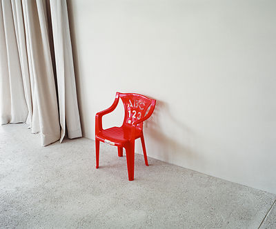 Red chair, Hout Bay, Cape Town, South Africa