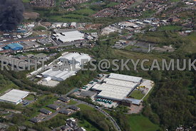 Oldham aerial photograph of  Leonard Way Salmon Fields