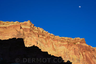 Moonrise over Capitol Reef