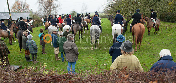 At the meet - The Cottesmore at John O'Gaunt 24/11/12