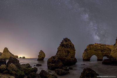 Monoliths under Milky Way - Algarve - Portugal