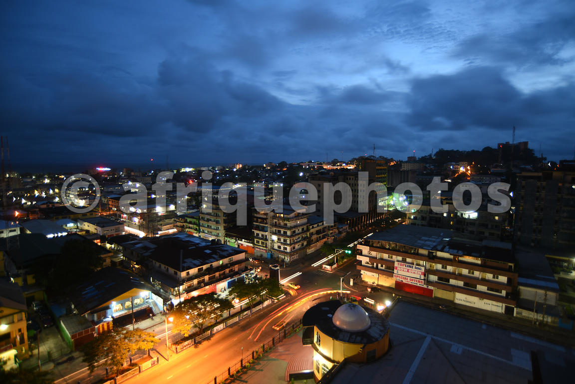 Monrovia by night