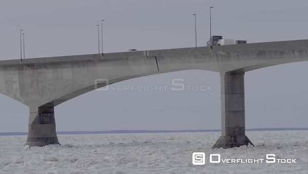 Prince edward Island Canada Confederation Bridge winter Ice