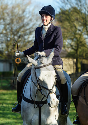 Lady Alice Manners at the Cottesmore Hunt meet at Pickwell Manor 8/1