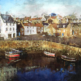 Winter reflections of Crail