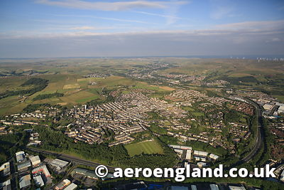 aerial photograph of Haslingden  Lancashire  England UK