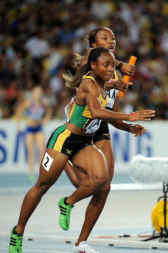 4x100 women's Jamaican Team at the 2011 IAAF World Championships,Athletics,Daegu,S.Korea