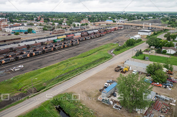Train yards at Swift Current, Saskatchewan.