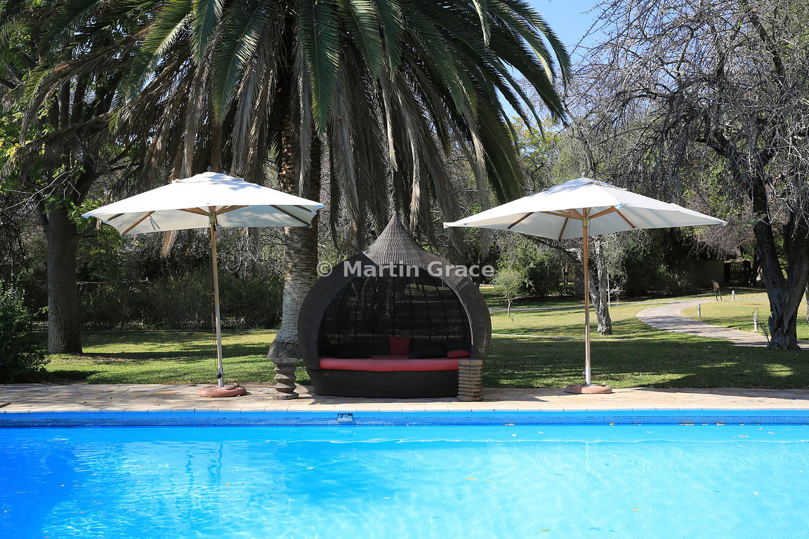 Poolside at Mokuti Safari Lodge, Etosha, Namibia