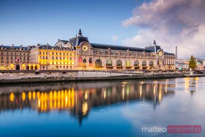 Musee d'Orsay on the river Seine at dawn, Paris, France