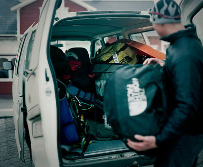 "Dylan Freed, during production of ""Steep"", Olafsfjordur, Iceland"