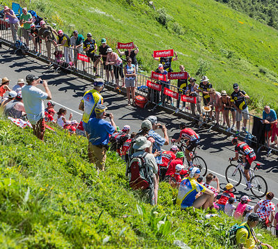The Breakaway in Mountains - Tour de France 2016