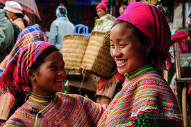 Flower Hmong Women Shopping