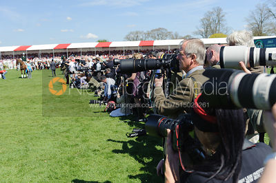 The press - show jumping phase,  Mitsubishi Motors Badminton Horse Trials, 6th May 2013.