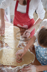 Girls making Cookies