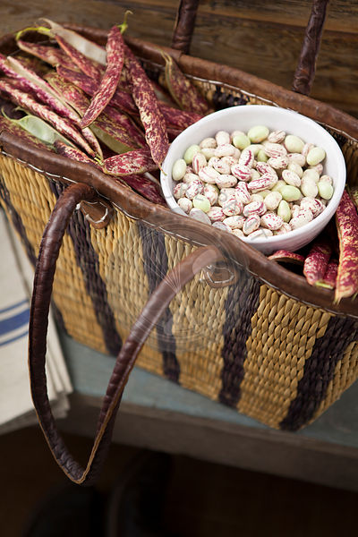 Borlotti Beans in Basket
