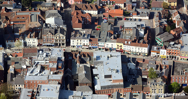 aerial photograph of High St Colchester CO1 1SZ, United Kingdom