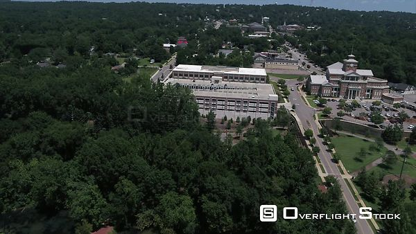 City of North Augusta Municipal Building Drone Aerial of Augusta Georgia