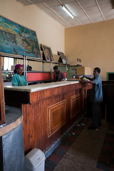 Ethiopia - Addis Ababa - Staff working at the Ras Makonnen pastry and coffee house