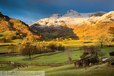 Winter sunrise, The Langdale Valley - BP3374