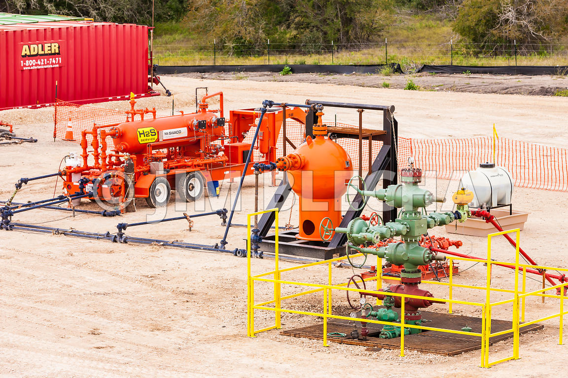 Oil and Gas Stock Photography | Flowback Testing Equipment