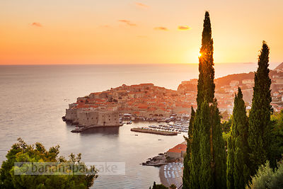 Sunset over the Old Town, Dubrovnik - BP4748